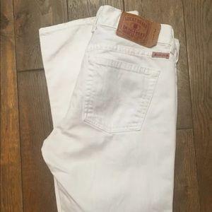 Lucky Brand Sundown Dungaree WhiteBootcut Jeans 6
